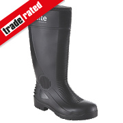 Site Trench Safety Wellington Boots Black Size 8